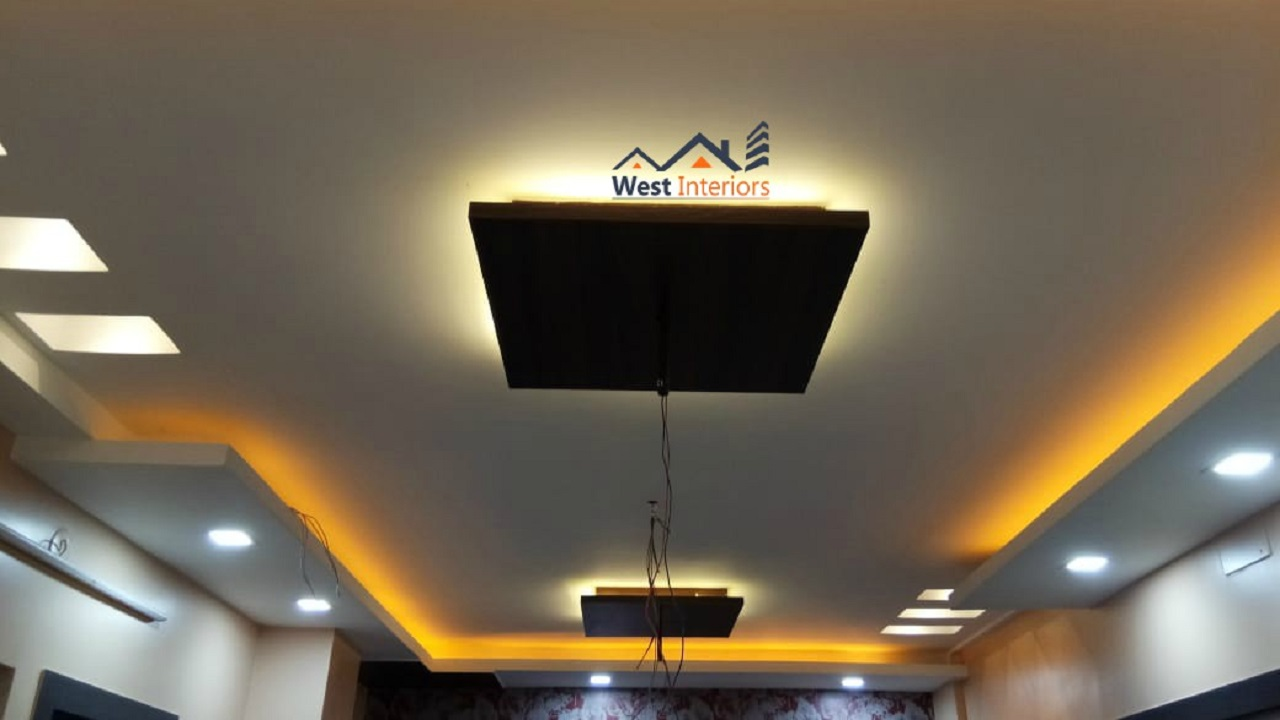 West Interiors False Ceiling Design Work Kolkata